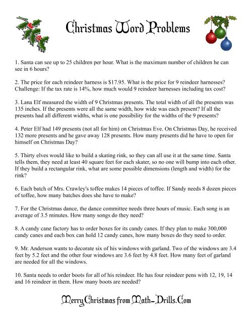 hight resolution of Word Problems