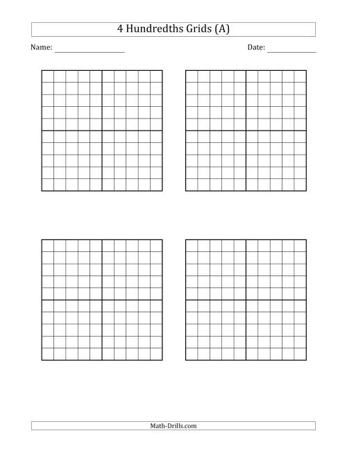 Hundredths Grid
