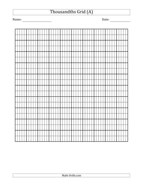 Thousandths Grid