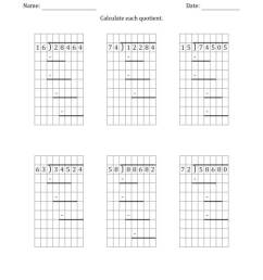 5-Digit by 2-Digit Long Division with Grid Assistance and Prompts and NO  Remainders (A) [ 1165 x 900 Pixel ]