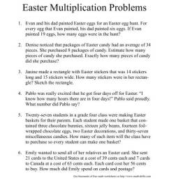 Easter Word Problems [ 1165 x 900 Pixel ]