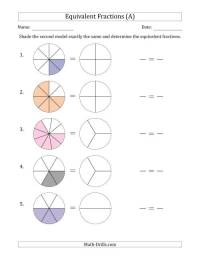 Equivalent Fractions To 12 Worksheets - printable fraction ...