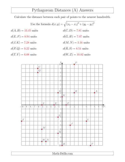 35 Distance Between Two Points Worksheet With Answers - Free Worksheet  Spreadsheet [ 1165 x 900 Pixel ]