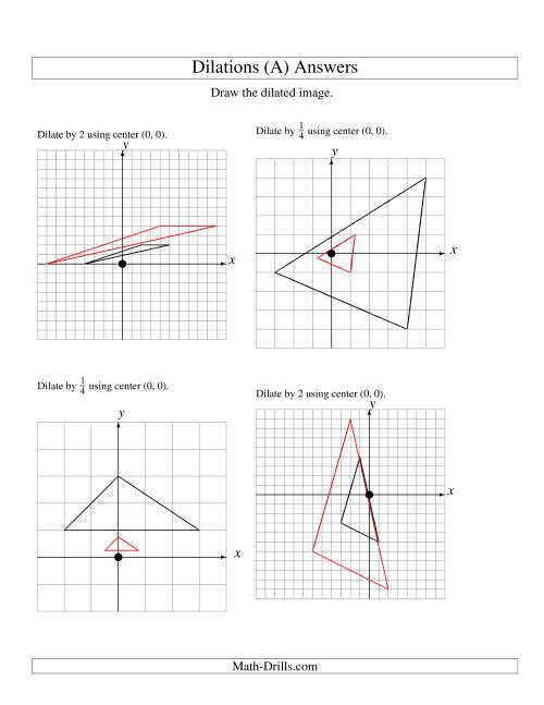 hight resolution of Dilations Using Center (0