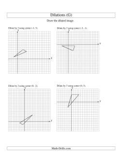 Dilations Using Various Centers (G) Geometry Worksheet