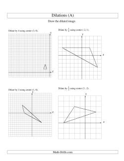 Dilations Using Various Centers (All) Geometry Worksheet