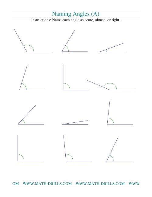 hight resolution of Naming Angles (A)