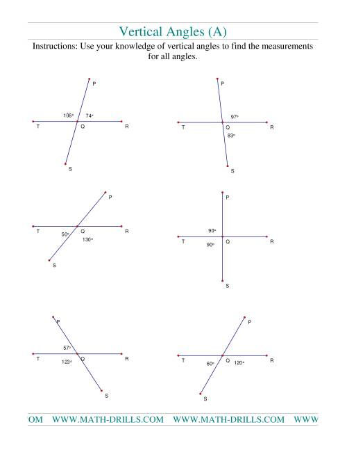 medium resolution of Vertical Angles (A)