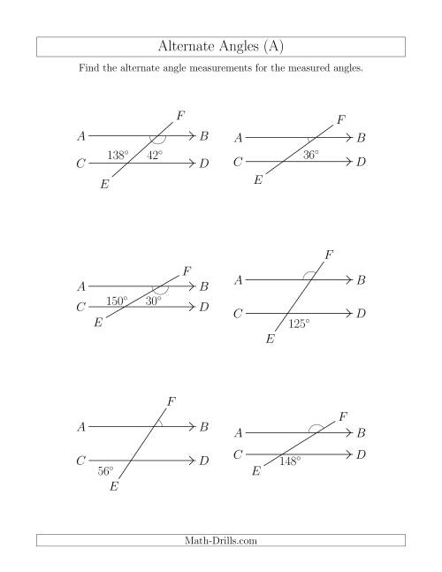 small resolution of Math Angles Worksheet
