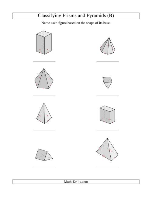Classifying Prisms and Pyramids (B)