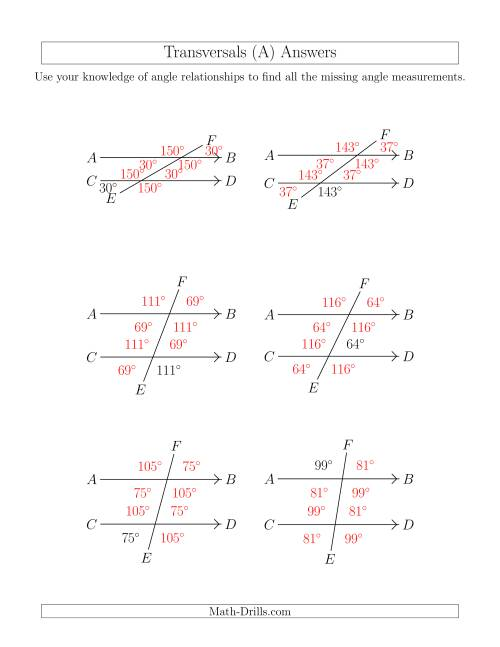 small resolution of Line And Angle Relationships Worksheet Answers - Nidecmege