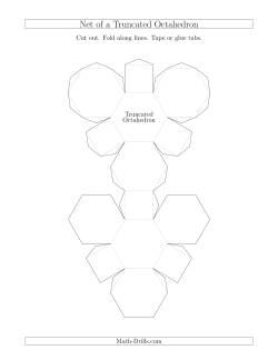 Net of a Truncated Octahedron Geometry Worksheet