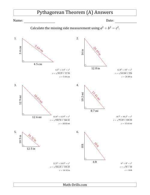 medium resolution of Pythagorean Theorem Worksheet Geometry - Nidecmege