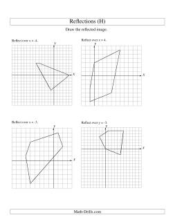 Reflection of 5 Vertices Over Various Lines (H) Geometry