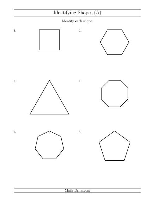 Identifying Shapes (A)