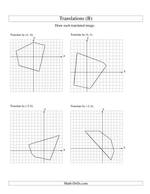 Translation of 5 Vertices up to 6 Units (B)