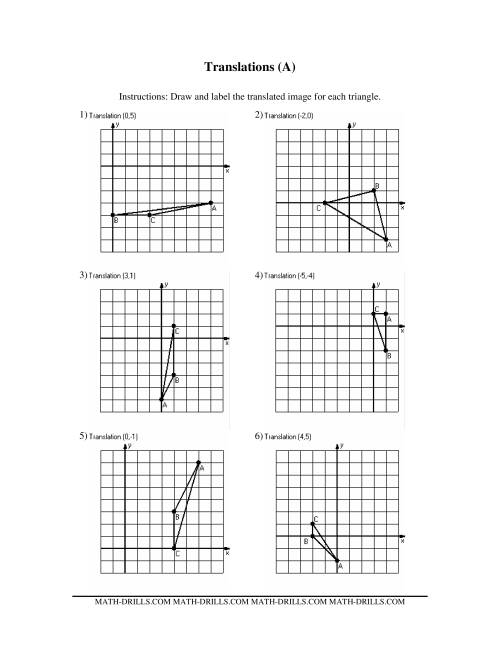 worksheet Translation Worksheets Year 6 rotations reflections and translations worksheets free w ksheet geometry tr nsl ti s mytourvn ksheet