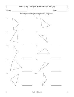 Classifying Triangles by Side Properties (All) Geometry