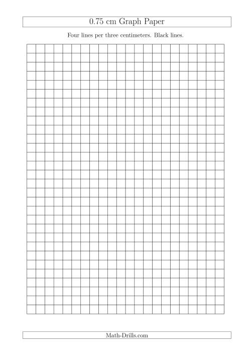 0.75 cm Graph Paper with Black Lines (A4 Size) (A)