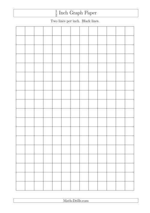 1 2 Inch Graph Paper With Black Lines A4 Size