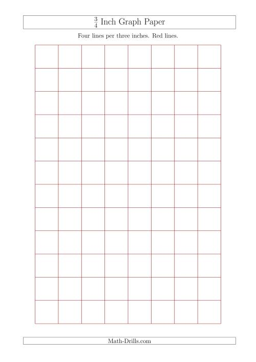 3 4 inch graph paper