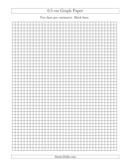 5 centimeter graph paper