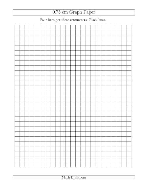 0.75 cm Graph Paper with Black Lines (A)