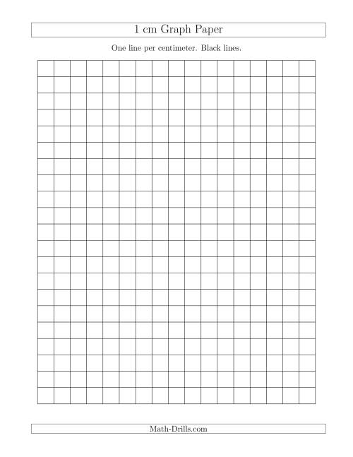 printable one centimeter graph paper