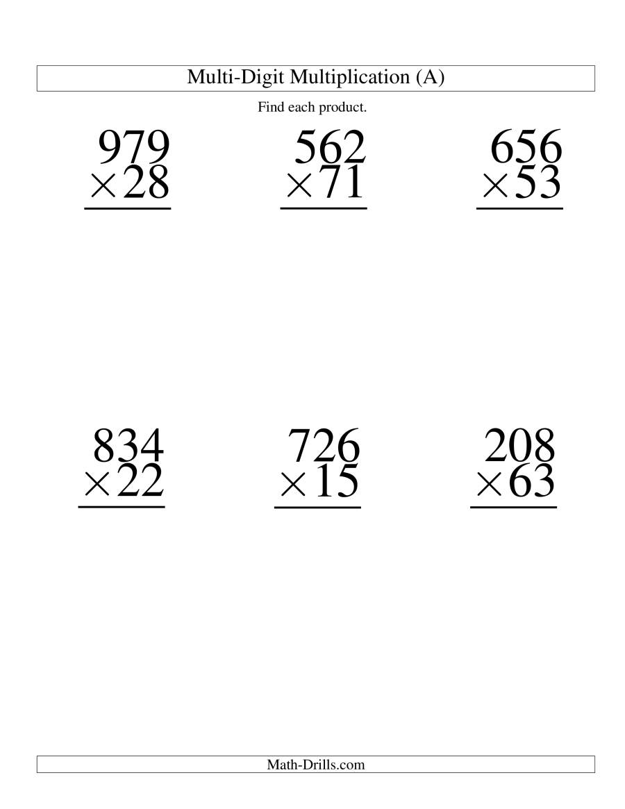 Multiply G Three Digit By Two Digit 6 Per P Ge