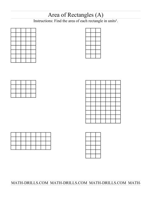 Area Of Rectangles Grid Form A