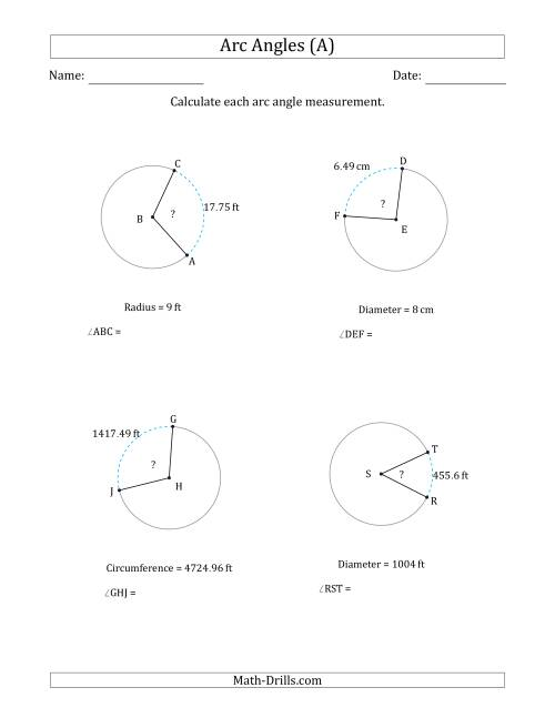 Area And Cirference Activity Maze Circle Math Worksheets