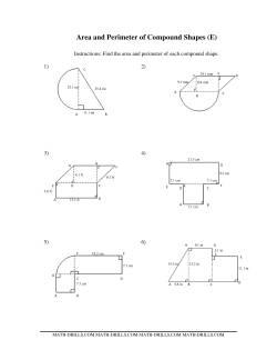 Area and Perimeter of Compound Shapes (E) Measurement