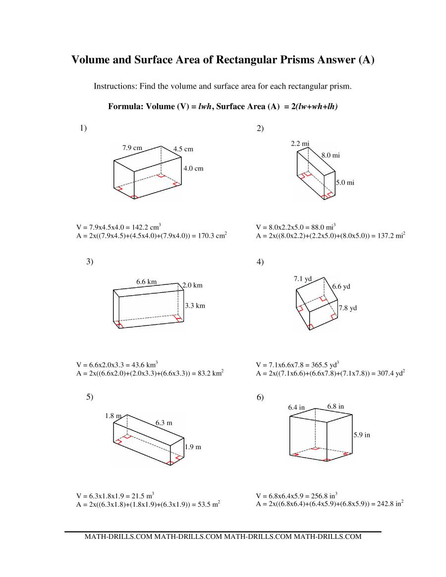 hight resolution of 32 Volume Of Prism Worksheet Pdf - Worksheet Project List