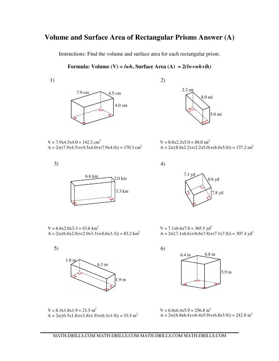 hight resolution of 32 Volume Of Prism Worksheet Pdf - Worksheet Project List