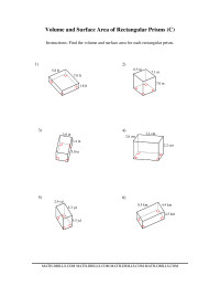 Volume and Surface Area of Rectangular Prisms (C