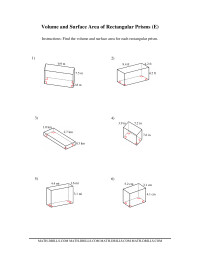 Volume and Surface Area of Rectangular Prisms (E