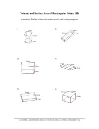 Volume and Surface Area of Rectangular Prisms (H