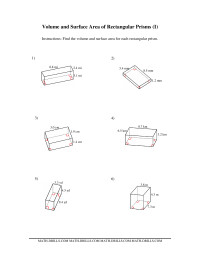 Volume and Surface Area of Rectangular Prisms (I