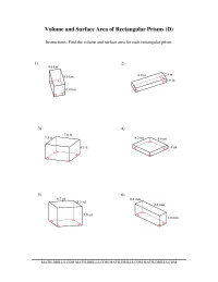 Volume and Surface Area of Rectangular Prisms (DD