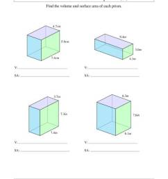 Volume and Surface Area of Rectangular Prisms with Decimal Numbers (A) [ 1165 x 900 Pixel ]