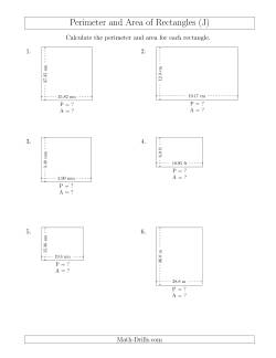 Calculating the Perimeter and Area of Rectangles from Side