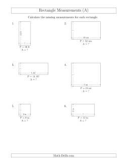 Math-Drills Search: perimeter math worksheets