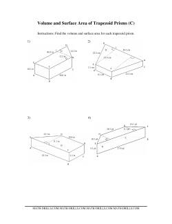 Volume and Surface Area of Trapezoid Prisms (C