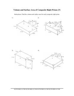 Volume and Surface Area of Composite-Based Prisms (F