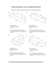 Volume and Surface Area of Trapezoid Prisms
