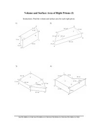 Volume and Surface Area of Mixed Right Prisms (II