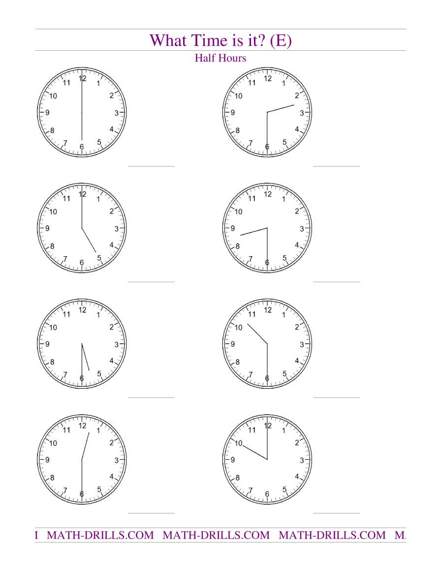 "Search Results for ""Printable Clock Worksheet Telling Time"