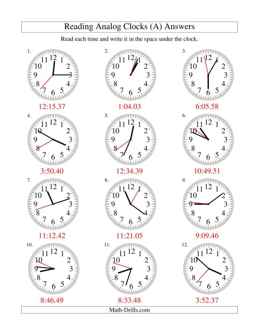 Image Result For Clock Exercises