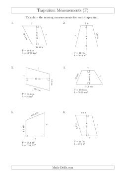 Calculating Bases and Sides of Trapeziums (F) Measurement