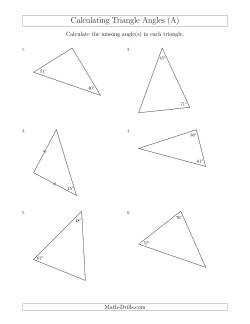 Calculating Angles of a Triangle Given the Other Angle(s